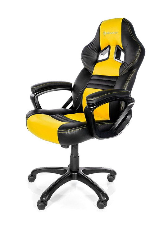 Arozzi Monza Series Gaming Racing Style Swivel Chair, Yellow/Black (MONZA-YL) - V&L Canada