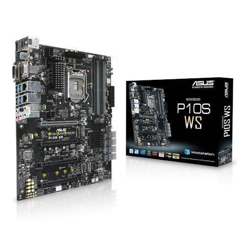 Asus Motherboard P10S WS Core i7/i5/i3 and E3-1200v5 S1151 C236 64GB DDR4 PCI Express SATA USB ATX Retail - V&L Canada