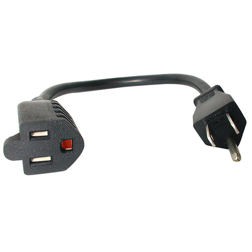 StarTech.com 12in Power Cord Extension - NEMA 5-15R to NEMA 5-15P (PAC101)