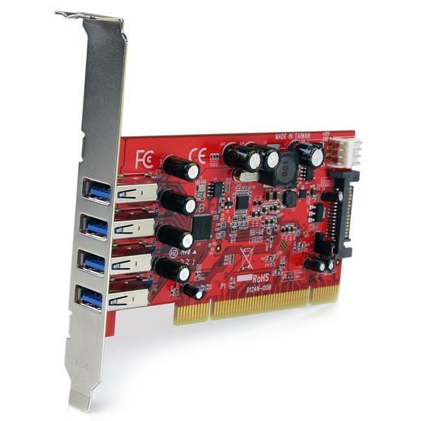 StarTech IO Card  4Port PCI SuperSpeed USB 3.0 Adapter Card with SATA SP4 Retail (PCIUSB3S4) - V&L Canada