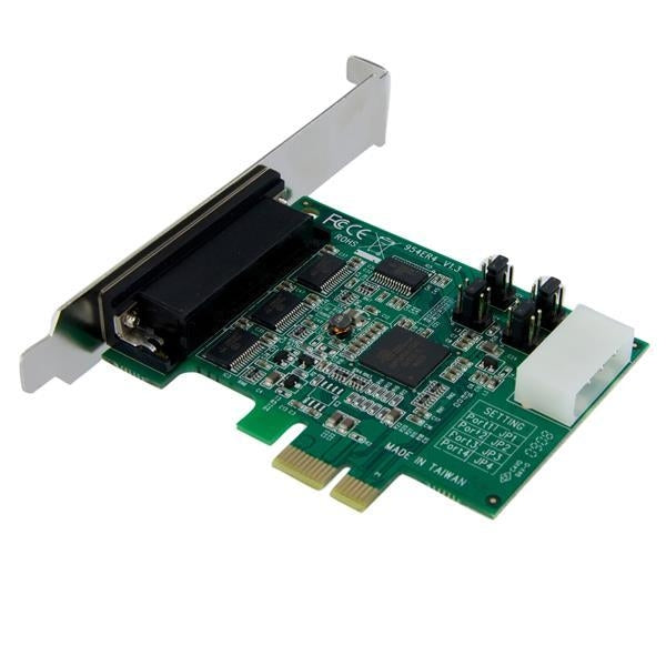 StarTech IO  4Port Native PCI-E RS232 Serial Adapter Card with 16950 Retail (PEX4S952) - V&L Canada