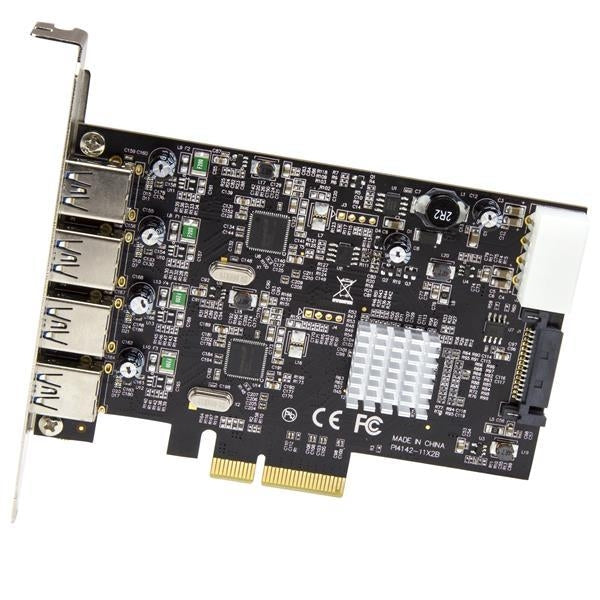 StarTech 4-Port USB 3.1 (10Gbps) Card - 4x USB-A with Two Dedicated Channels - PCIe (PEXUSB314A2V)
