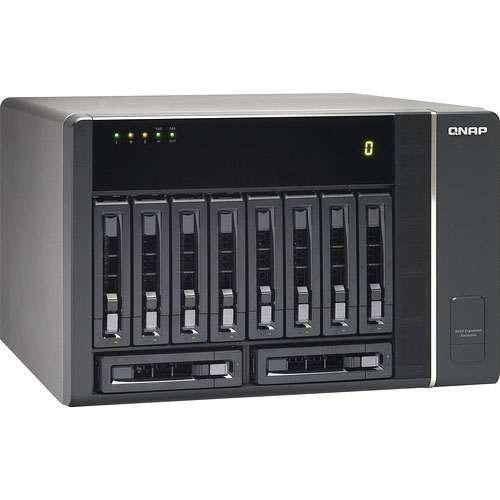 QNAP NAS Network Attachment Storage REXP-1000-PRO 10Bay RAID Single Power Supply with 6GB SAS Cable Tower Retail - V&L Canada