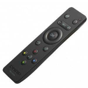 QNAP Infrared Remote Control - For the TVS-882ST2, TVS-1282T3, for TVS-473, 673, and 873, for  TS-253B, 453B, and 653B,  2 x AAA Batteries, Black - RM-IR004 - V&L Canada