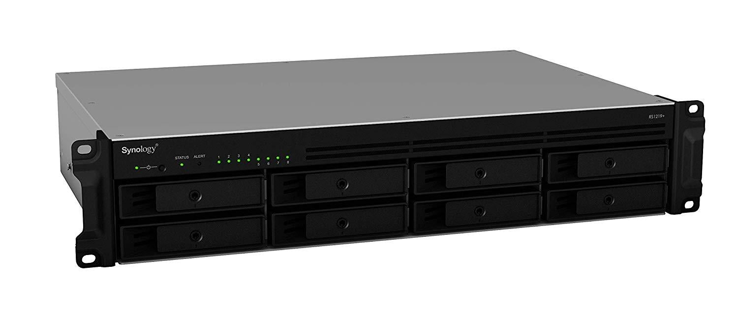 Synology RackStation RS1219+ Ethernet LAN Rack (2U) Black NAS
