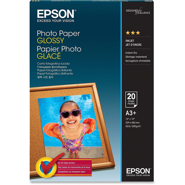 Epson Photo Paper Photo paper - Super B (13 in x 19 in) - 194 g/m2 - 20 sheet(s) (S041143)