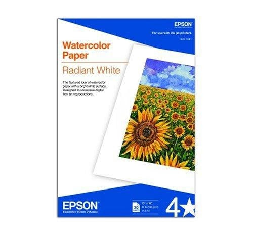 Epson Watercolor Papers Radiant White photo paper (S041351) - V&L Canada