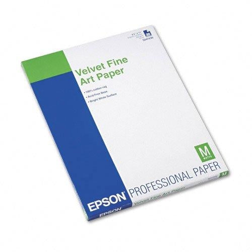 EPSON PAPER-VELVET FINE ART SUPERB 13X19 20CT (S041637)
