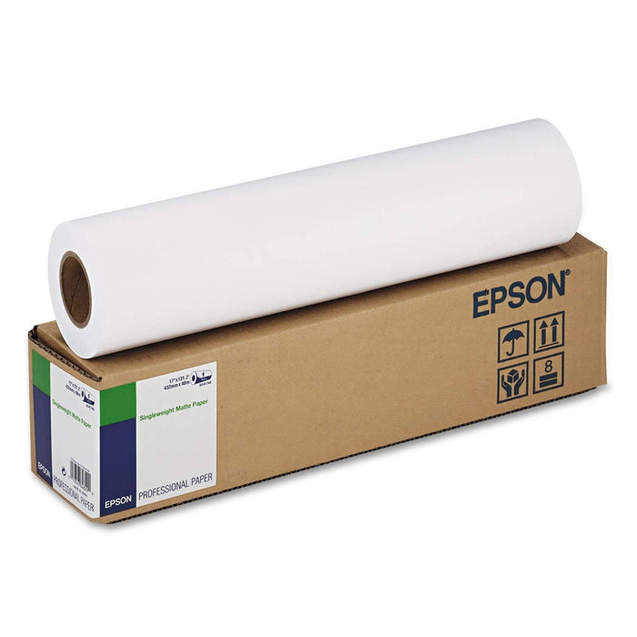 "Epson Singleweight Matte Paper photo paper 17"" x 50 ft` (S041746) - V&L Canada"