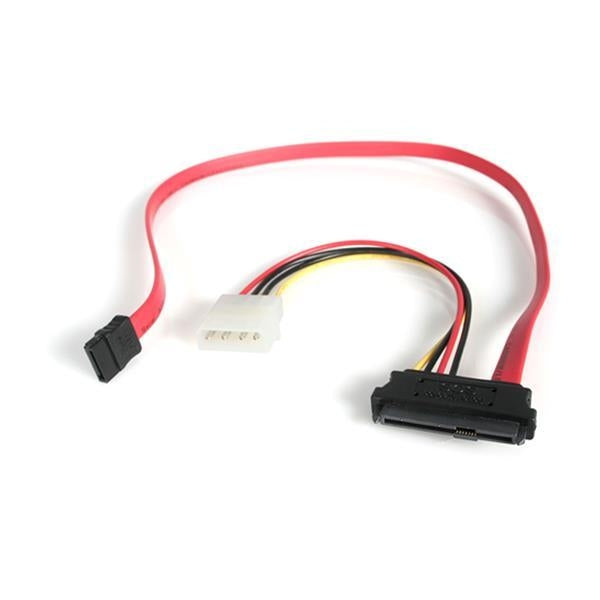 StarTech 18in SAS 29 Pin to SATA Cable with LP4 Power (SAS729PW18) - V&L Canada