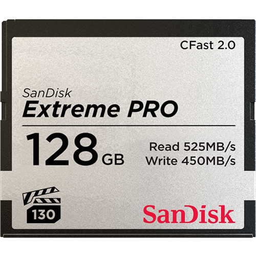 Sandisk 128GB Extreme Pro CFast 2.0 128GB CFast 2.0 memory card (SDCFSP-128G-G46D)