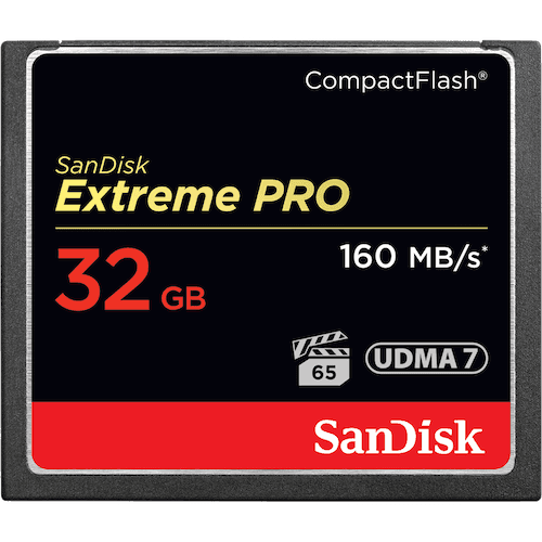 Sandisk 32GB Extreme Pro CF 160MB/s 32GB CompactFlash memory card (SDCFXPS-032G-X46)