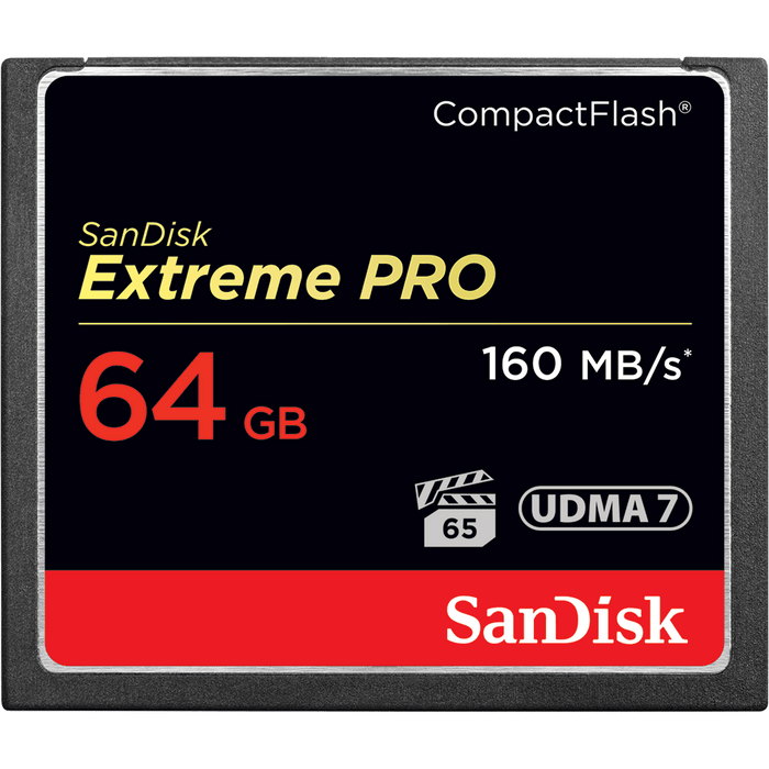 Sandisk 64GB Extreme Pro CF 160MB/s 64GB CompactFlash memory card (SDCFXPS-064G-X46)