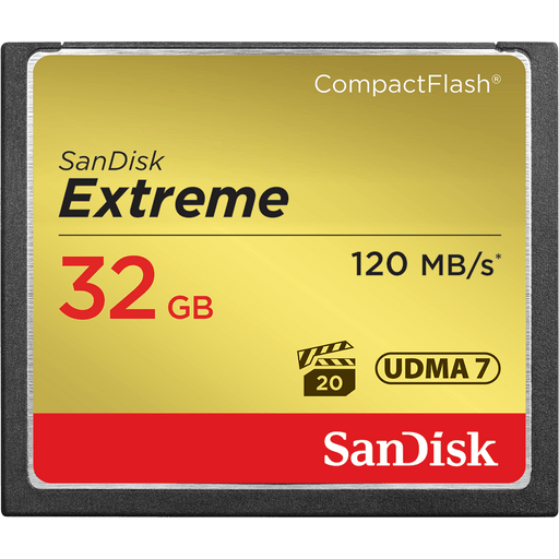 Sandisk 32GB Extreme 32GB CompactFlash memory card (SDCFXSB-032G-G46)