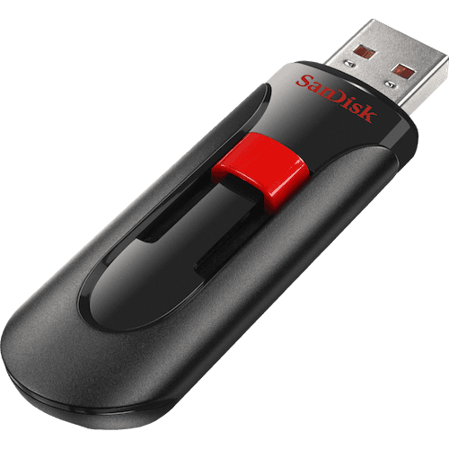 Sandisk Cruzer Glide 128GB USB 2.0 Type-A Black,Red USB flash drive (SDCZ60-128G-B35S) - V&L Canada