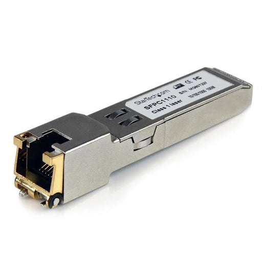 StarTech Cisco Compatible Gigabit RJ45 Copper SFP Transceiver Module - Mini-GBIC with Digital Diagnostics Monitoring (SFPC1110) - V&L Canada