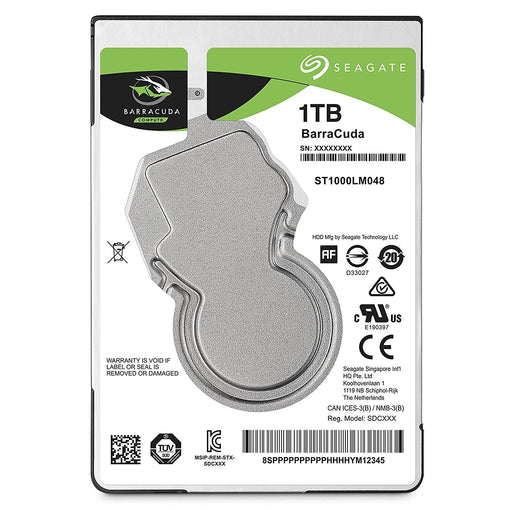 Seagate 1TB Barracuda Sata 6GB/s 128MB Cache 2.5-Inch 7mm Internal Hard Drive 2.5 Internal Bare/OEM Drive - V&L Canada
