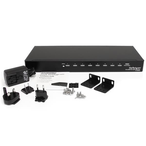 StarTech Accessory  8Port High Speed HDMI Video Splitter Audio RackMountable Retail (ST128HDMI2) - V&L Canada