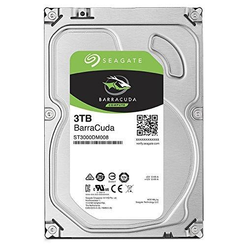 Seagate BarraCuda 3TB 3.5-Inch SATA 6 Gb/s Internal Hard Drive (ST3000DM008) - V&L Canada