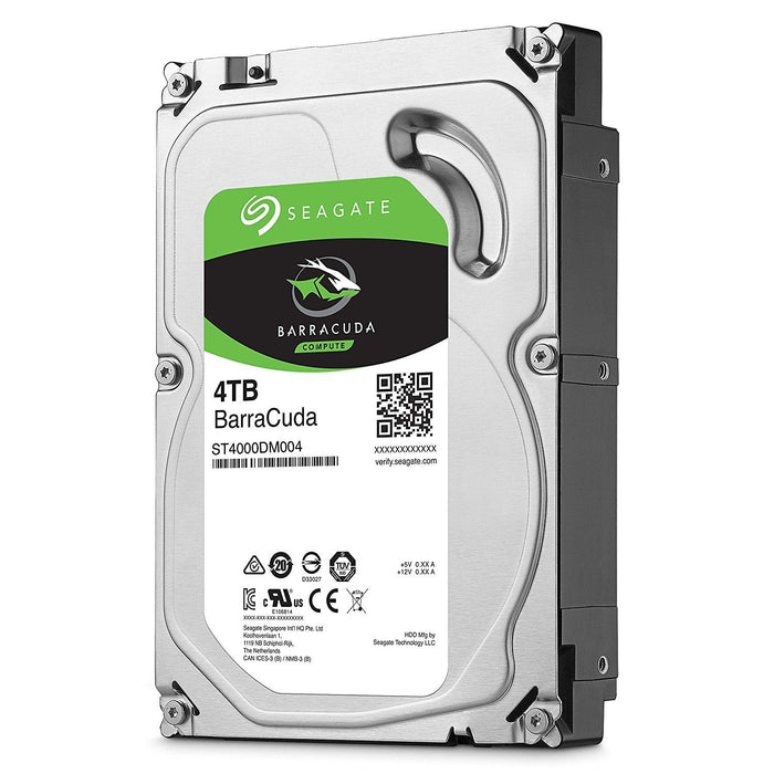 Seagate 4TB BarraCuda SATA 6Gb/s 256MB Cache 3.5-Inch Internal Hard Drive (ST4000DM004) - V&L Canada