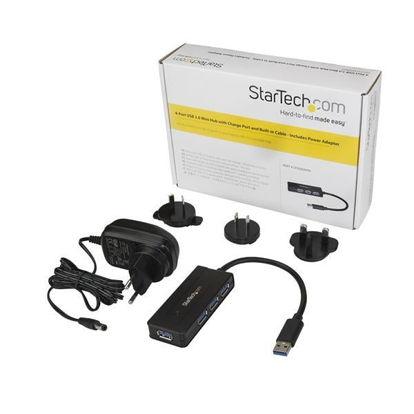 StarTech Accessory 4 Port USB3.0  Mini Hub with Charge Port Retail (ST4300MINI) - V&L Canada