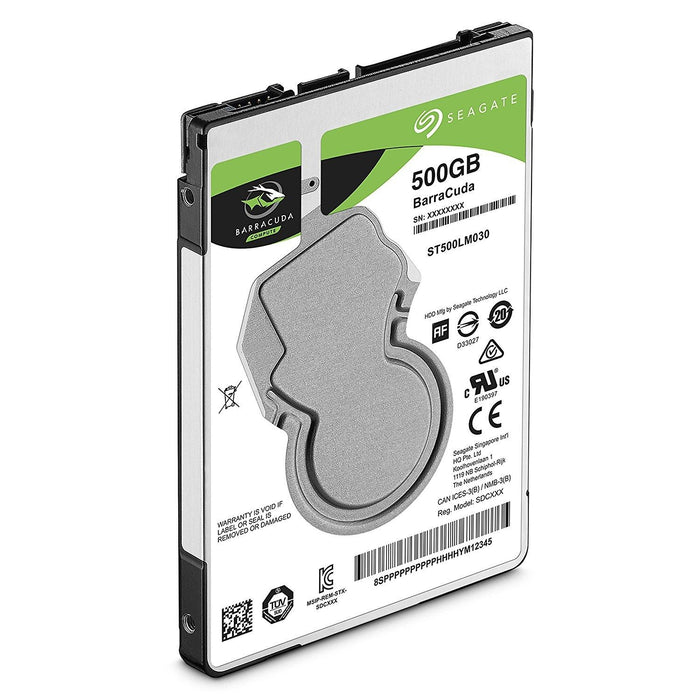 Seagate 500GB Barracuda Sata 6GB/s 128MB Cache 2.5-Inch 7mm Internal Hard Drive (ST500LM030) - V&L Canada
