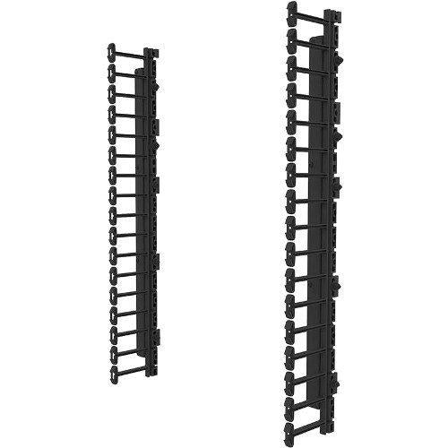 C2G Vertical Cable Management Kit for 12RU Swing-Out Wall-Mount Cabinet, Black (SWMVFK12RU)