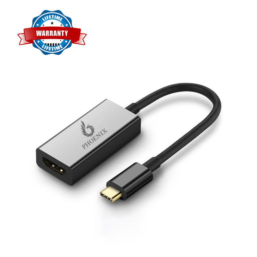 Phoenix USB Type-C to HDMI Adapter, USB3.0 Type C (Thnderbolt 3 Compatible) to HDMI Adapter(4K Resolution)