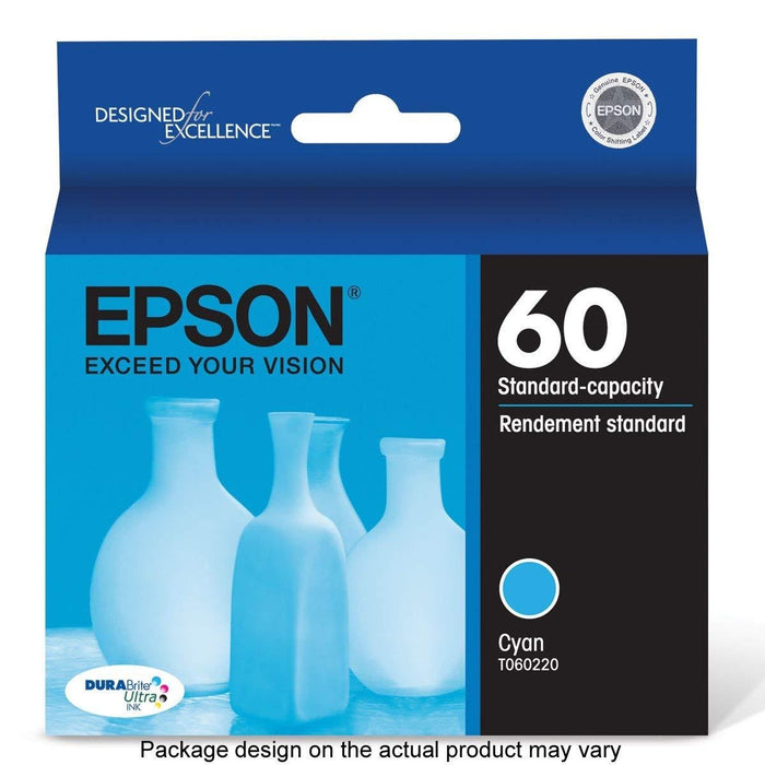 EPSON C68/88/38/42/48 CYAN INK CART BILL 4PK (T060220-S-K1)