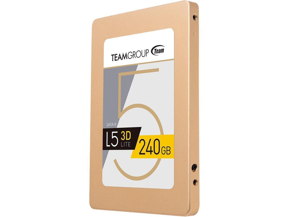 "Team Group L5 LITE 3D 2.5"" 240GB SATA III 3D NAND Internal Solid State Drive (SSD) (T253TD240G3C101)"