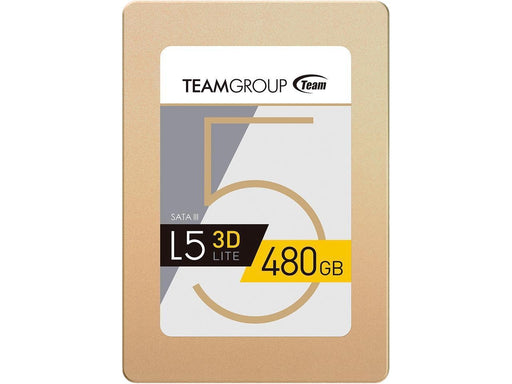 "Team Group L5 LITE 3D 2.5"" 480GB SATA III 3D NAND Internal Solid State Drive (SSD) (T253TD480G3C101)"