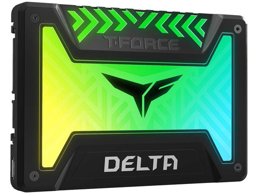"TeamGroup T-FORCE Delta RGB SSD 2.5"" 1TB SATA III Internal RGB Solid State Drive - Black (For Mb With 5V Add Header) (T253TR001T3C313+T253TR001T3C413)"