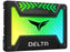 "TeamGroup T-FORCE Delta RGB SSD 2.5"" 1TB SATA III Internal RGB Solid State Drive - Black (For Mb With 5V Add Header)"