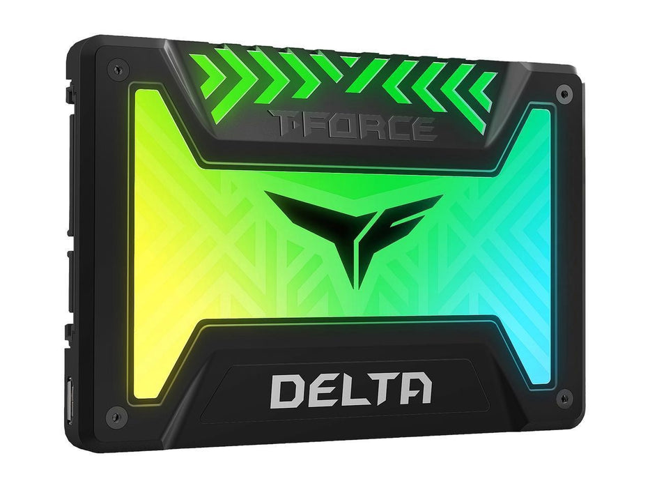"Team Group T-FORCE DELTA RGB SSD 2.5"" 500GB SATA III Internal RGB Solid State Drive (For MB with 5V ADD Header) (T253TR500G3C313)"