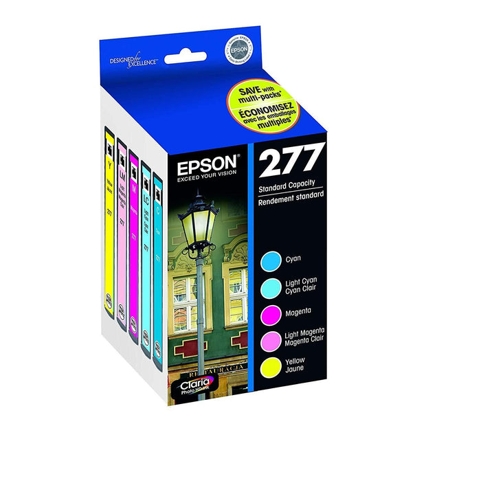 Epson 277, Color Ink Cartridges, C/M/Y/LC/LM 5-Pack (T277920) (T277920-S-K)