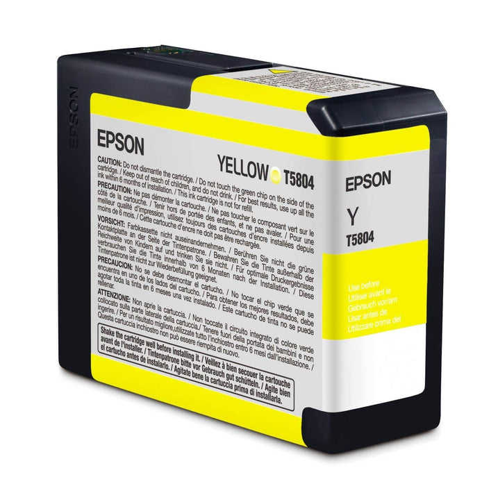 EPSON Ink Cartridge - Yellow - for Stylus Pro 3800 (T580400)