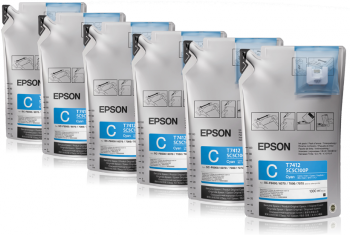Epson UltraChrome DS Cyan T741200 (1Lx6packs) - V&L Canada