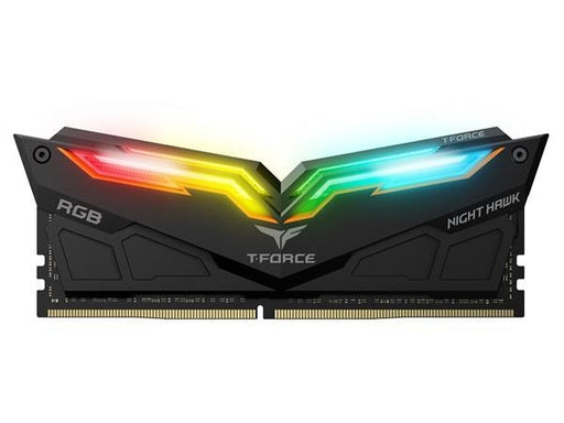 Team Group Night Hawk RGB 16GB(2X 8GB) 3000 MHz C16 Dual Channel Memory Kit 1.35V Black (TF1D416G3000HC16CDC01)