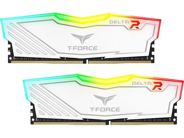 "*Bundle Deal* Team Group T-Force Delta II RGB Series 16GB (2 x 8GB) 288-Pin DDR4 SDRAM DDR4 2666 (White) & T-FORCE DELTA RGB 500GB SSD 2.5"" SATA III (White)"