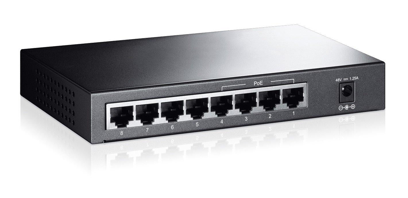 TP-Link TL-SF1008P 10/100Mbps 8-Port PoE Switch, 4 POE ports, IEEE 802.3af, 53W - V&L Canada