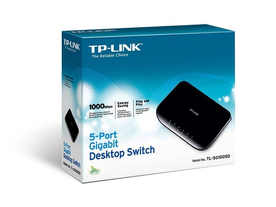 TP-LINK TL-SG1005D Unmanaged network switch Gigabit Ethernet (10/100/1000) Black network switch - V&L Canada