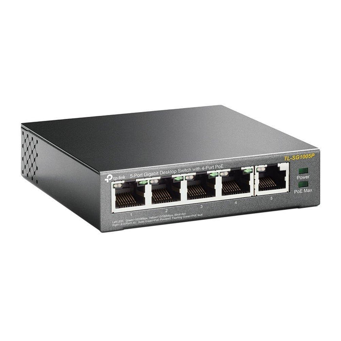 TP-Link Networking Device TL-SG1005P 5-Port Gigabit Desktop Switch with 4-Port PoE 56W PoE PS