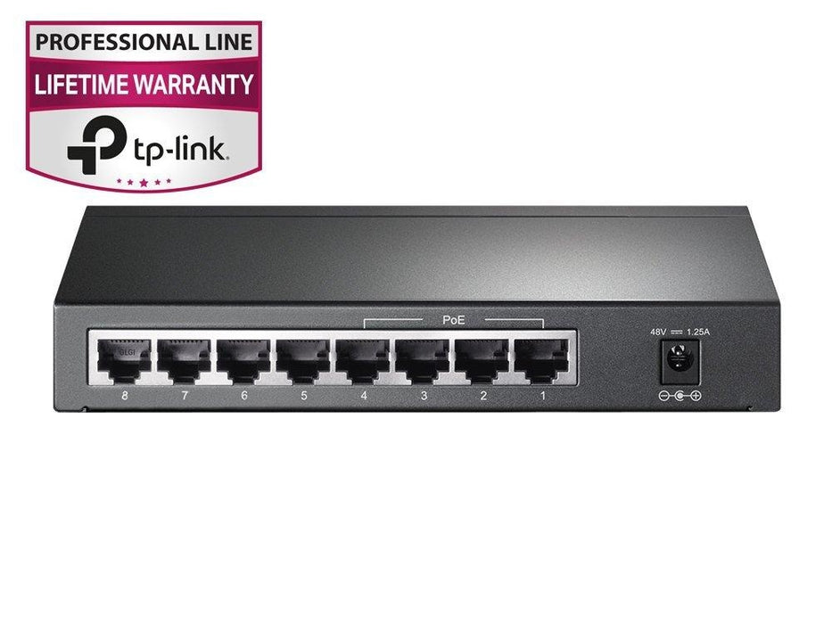 TP-Link TL-SG1008P 8-Port Giagbit PoE Switch, 4 POE ports, IEEE 802.3af, Max Output 53W - V&L Canada