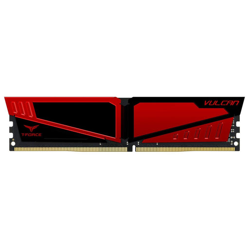 TEAMGROUP T-Force Vulcan DDR4 8GB (2x8GB) 2666MHz (PC4-21300) CL15 Desktop Memory Module ram - Red (TLRED416G2666HC15BDC01)