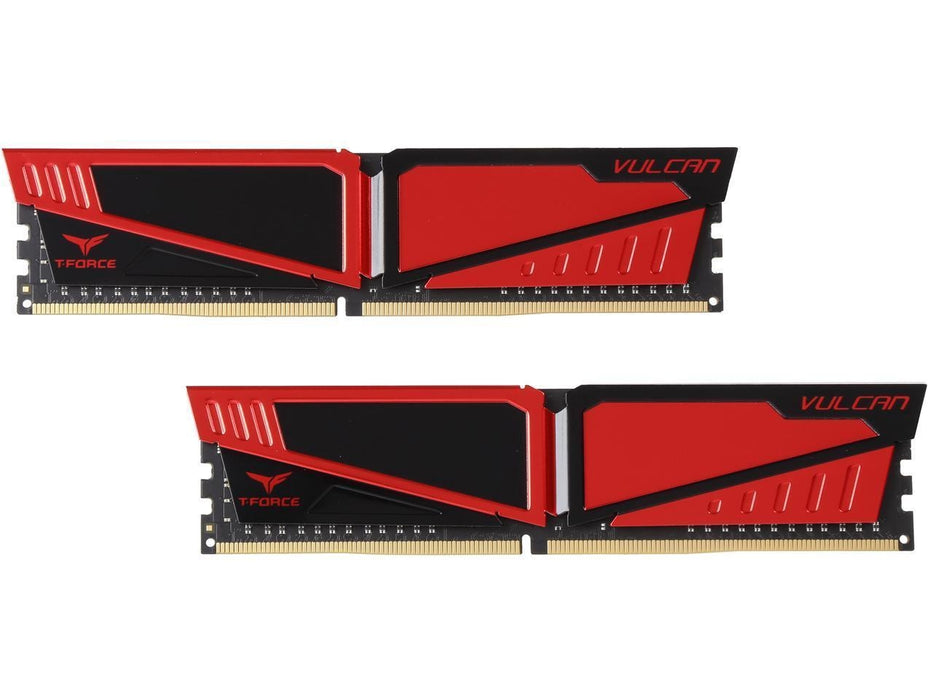 Team T-Force Vulcan 8GB (2 x 4GB) 288-Pin DDR4 SDRAM DDR4 2666 (PC4 21300) Desktop Memory Model TLRED48G2666HC15BDC01