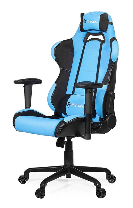 Arozzi Torretta Series Gaming Racing Style Swivel Chair, Azure (TORRETTA-AZ) - V&L Canada