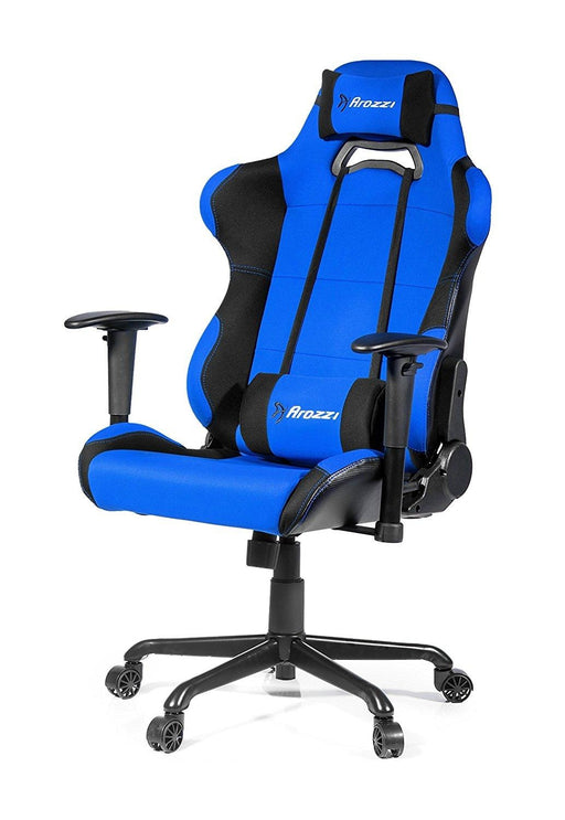 Arozzi Torretta XL Series Gaming Racing Style Swivel Chair, Blue (TORRETTA-BL) - V&L Canada
