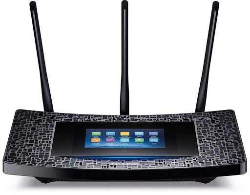 "*Open Box* Recertified TP-Link AC1900 Dual Band 4.3"" Touchscreen WiFi Gigabit Router, 2.4GHz 600Mbps + 5GHz 1300Mbps, 2 USB Ports, IPv6, Beamforming Technology (Touch P5)"