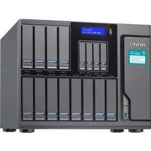 "QNAP TS-1635 16-Bay NAS Server Enclosure - 12x 3.5""/2.5"" SATA Drive Bays, 4x 2.5"" SATA Drive Bays, 8GB DDR3 RAM, ARM Cortex-A15 Quad-Core 1.7GHz CPU, 2x 10GbE and 2x GbE Ports - TS-1635-8G-US - V&L Canada"
