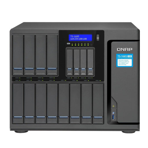 QNAP NAS Network Attachment Storage TS-1685-D1521-32G-US D1521 4Core 2.4GHz 32GB RAM 12x3.5/2.5 SATA 6Gb/s Retail - V&L Canada